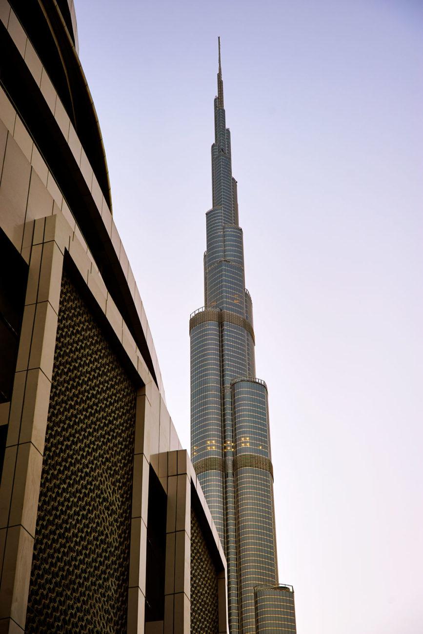 Foto-Reportage Dubai und Abu Dhabi - Der Burj Khalifa ist mit 828 Meter das höchste Bauwerk der Welt